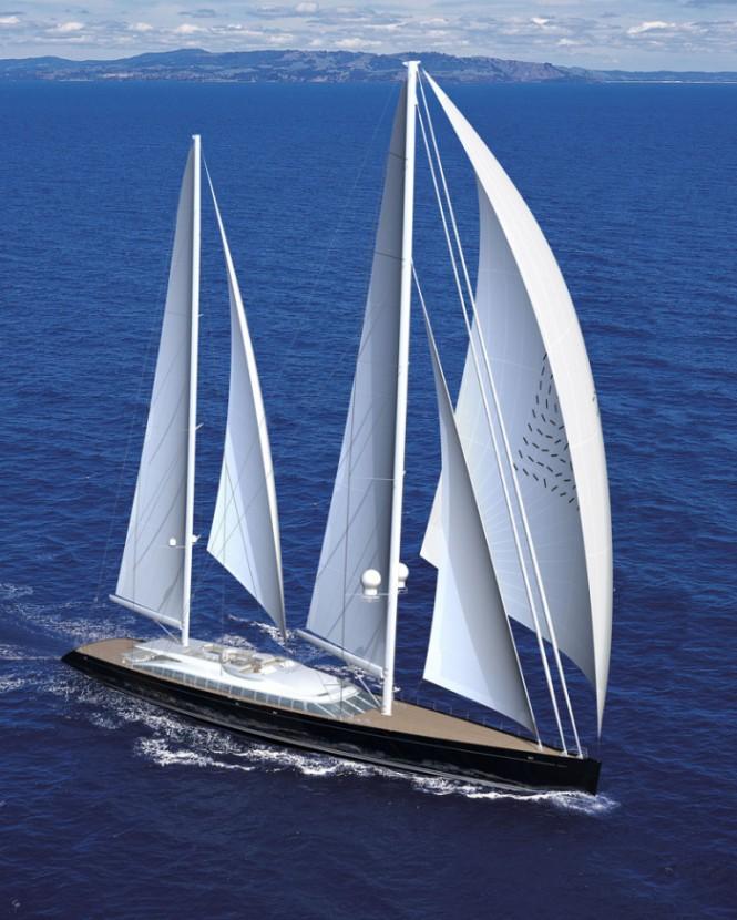Vértigo de Alloy Yachts, el \'Cirano\' de los veleros de lujo