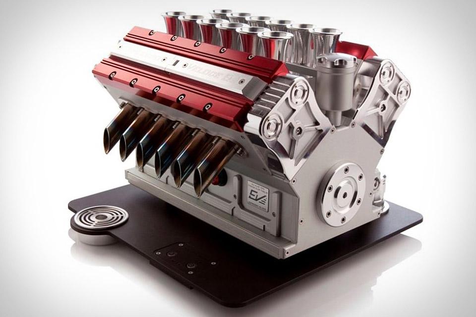 Expresso Veloce Titanio V12: una máquina de café con forma de motor de F1