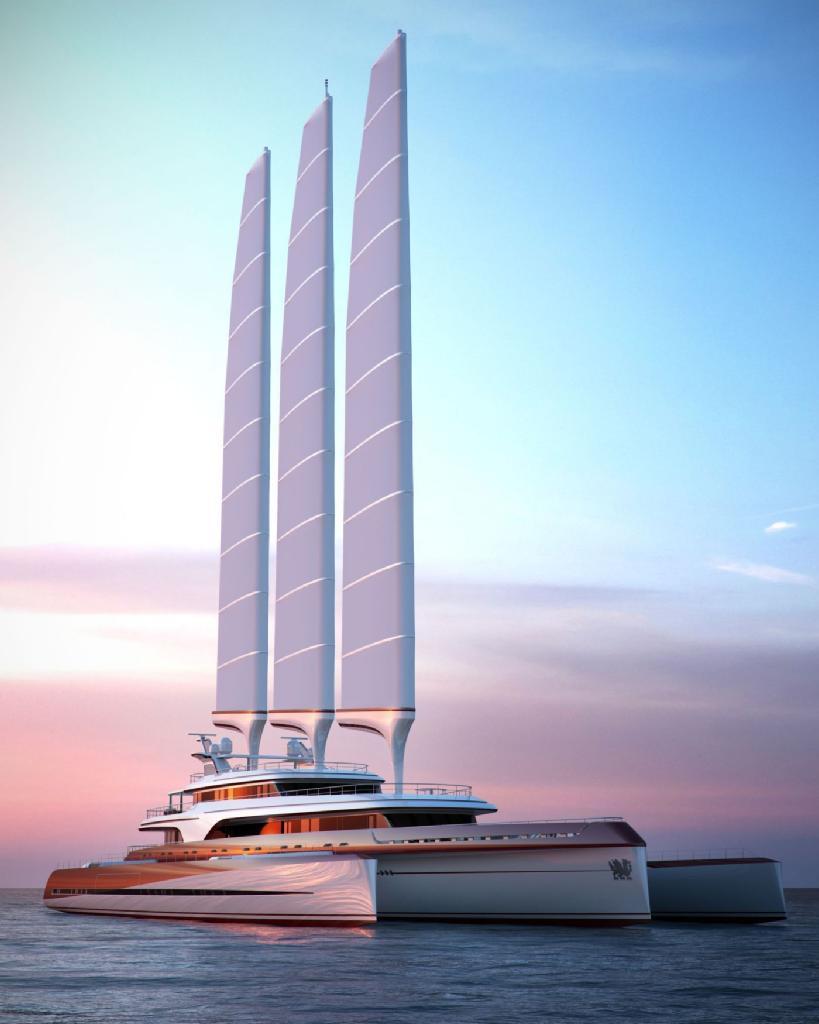 Drangoship 80: un exclusivo y lujoso trimarán al alcance de pocos