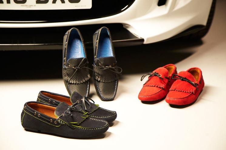 Nueva colección de zapatos para conducir inspirados en el Jaguar F-Type