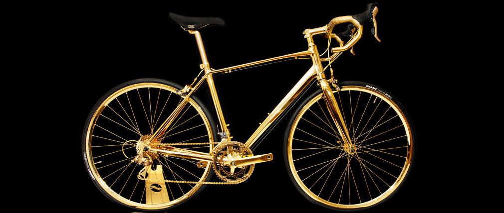 Goldgenie presenta su bicicleta de oro chapada en oro de 24k