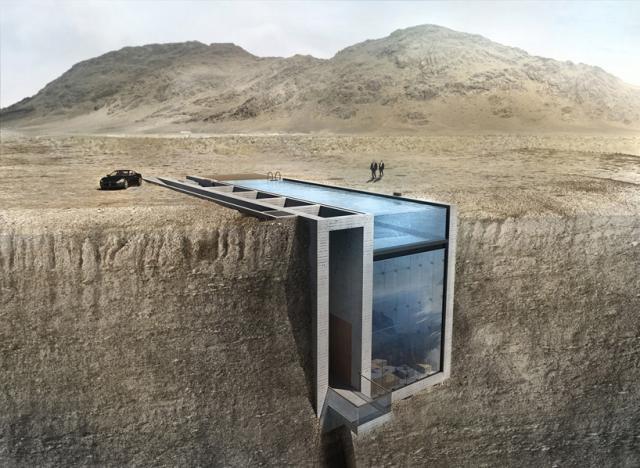 """""""Casa Brutale"""", una vivienda colgada de un acantilado sobre el Mar Egeo"""