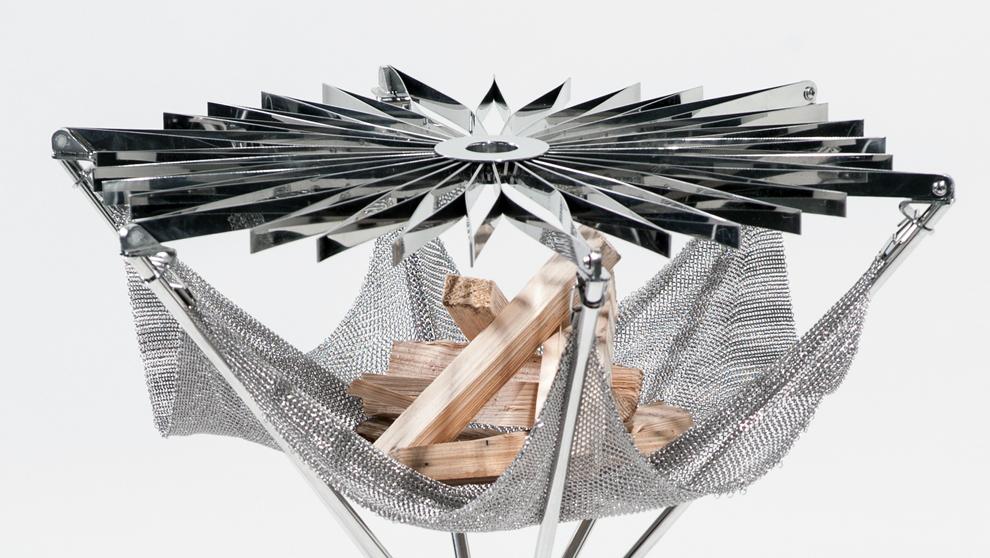 Grillo: la barbacoa de diseño que se abre como un paraguas