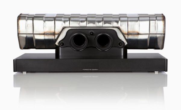 Porsche Design convierte el tubo de escape de un 911 GT3 en un espectacular altavoz
