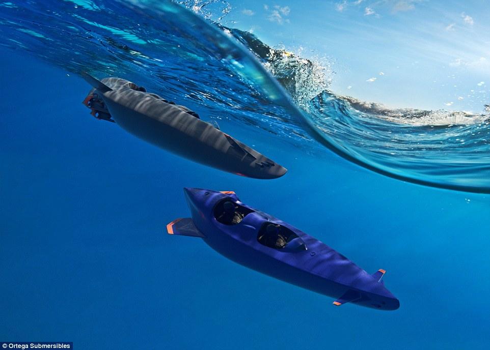 Ortega Submersible: el submarino personal más rápido del mundo