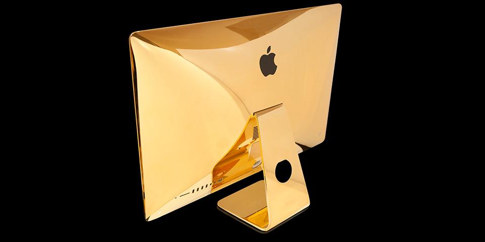 iMac de 27 pulgadas chapado en oro: otra obra de arte de Goldgenie