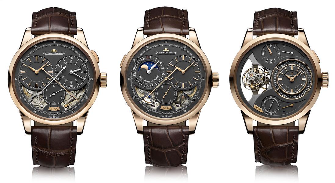 "Jaeger-LeCoultre presenta en el SIHH 2017 tres espectaculares relojes ""Duomètre"" en oro rosa"