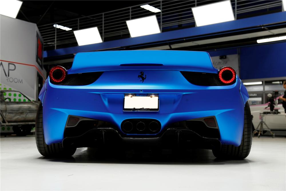El Ferrari 458 Italia de Justin Bieber, a subasta • Vayalujo