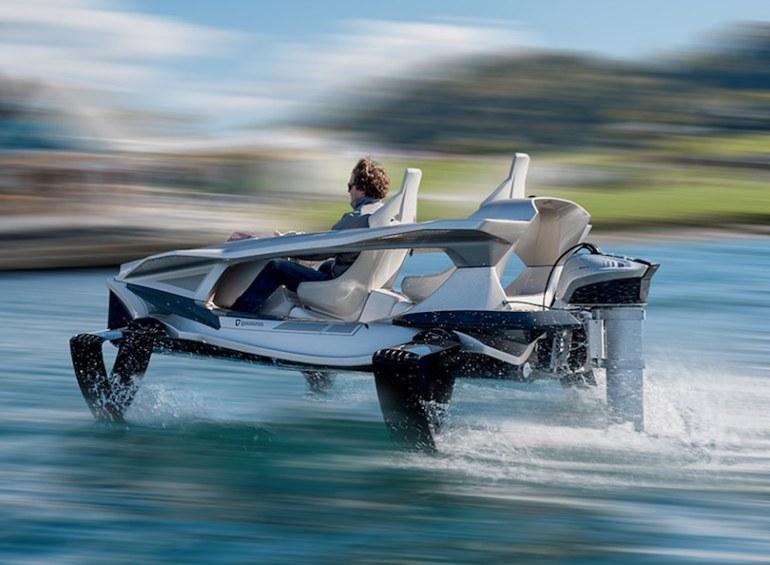 Quadrofoil Q2S: la lancha ecológica capaz de volar sobre el agua