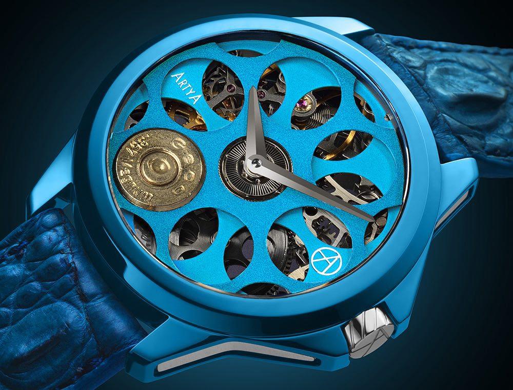 ArtyA Son of a Gun Russian Roulette Blue Blood: te presentamos uno de los relojes más extravagantes del mundo