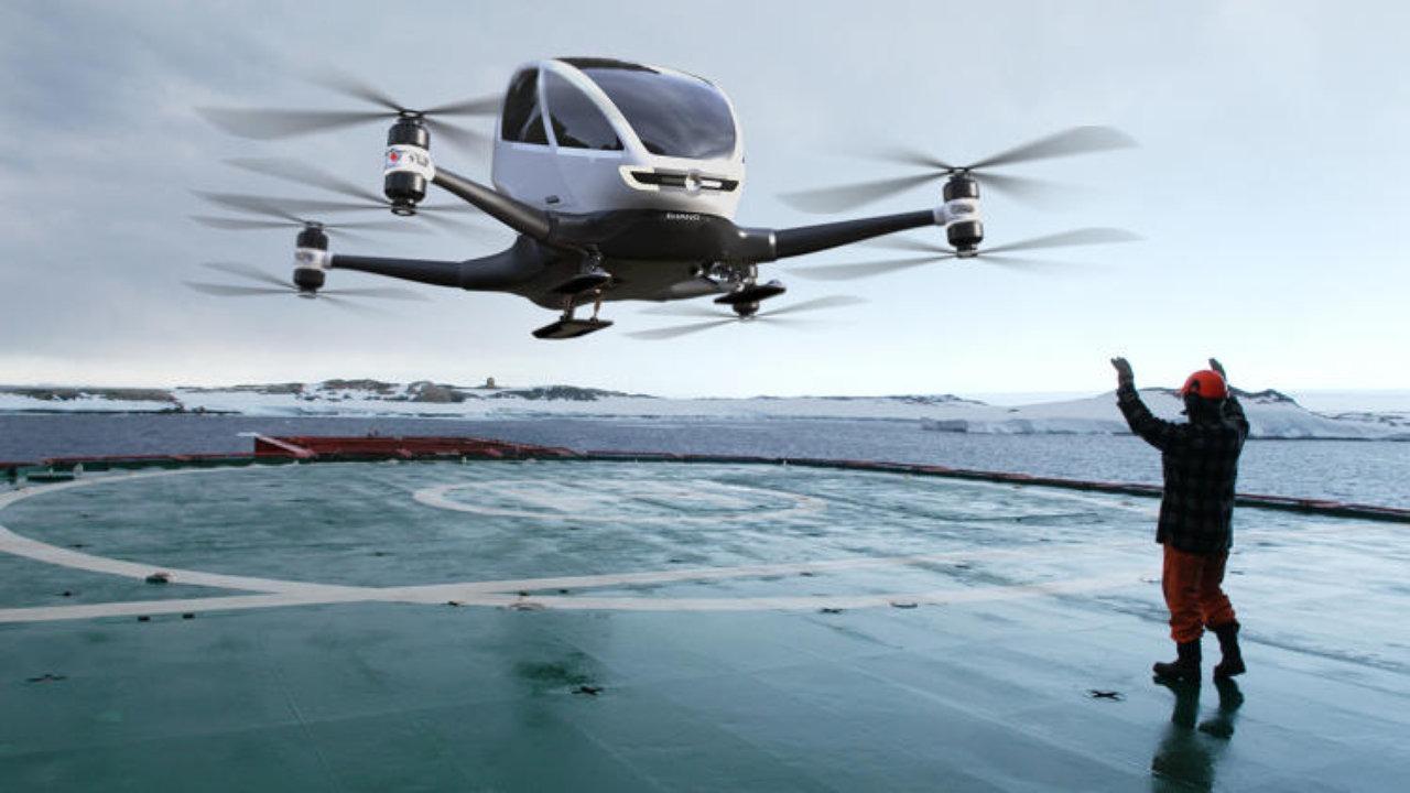 EHANG 184, el Dron sin piloto que te llevará a cualquier lugar