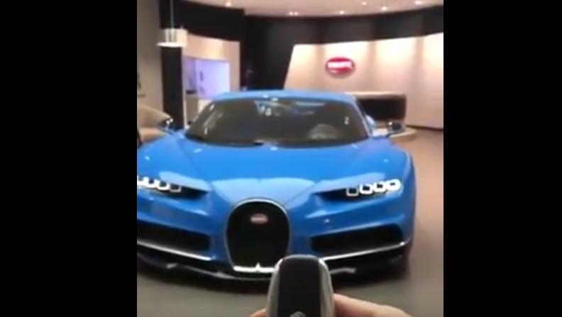 Así de alucinante es el Bugatti Chiron incluso antes de arrancarlo