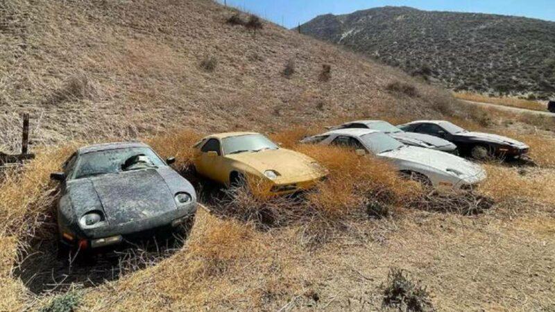 Dolor infinito… Encuentran 13 Porsches abandonados en el desierto.